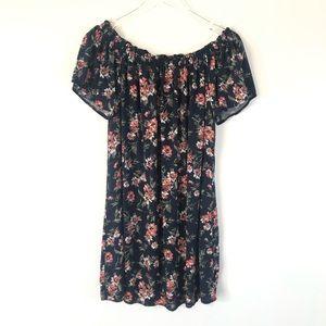 Abercrombie & Fitch Floral Off Shoulder Dress